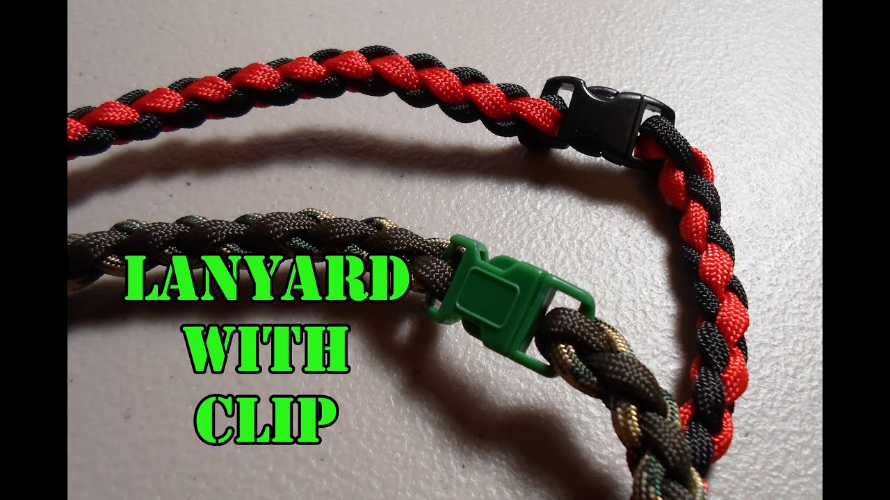 Rock Paracord - How to make a Lanyard with clip