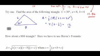 234 TrigH 8 4 Area of a Triangle