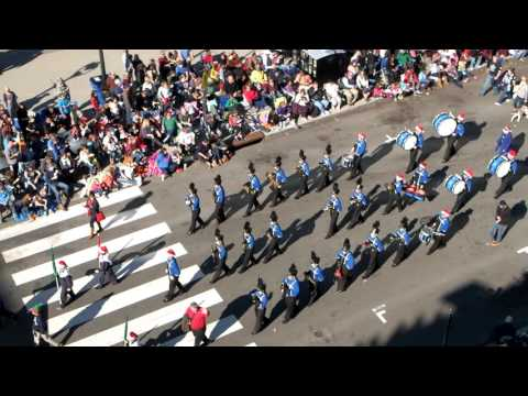 Wake Christian Academy Marching Band in Raleigh Christmas Parade 2016