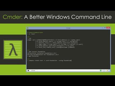 Cmder: A Better Windows Command Line