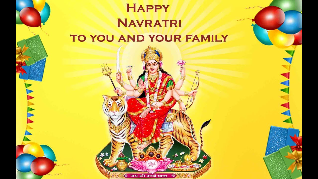 Greeting Card Animated Navratri Greeting Card Youtube