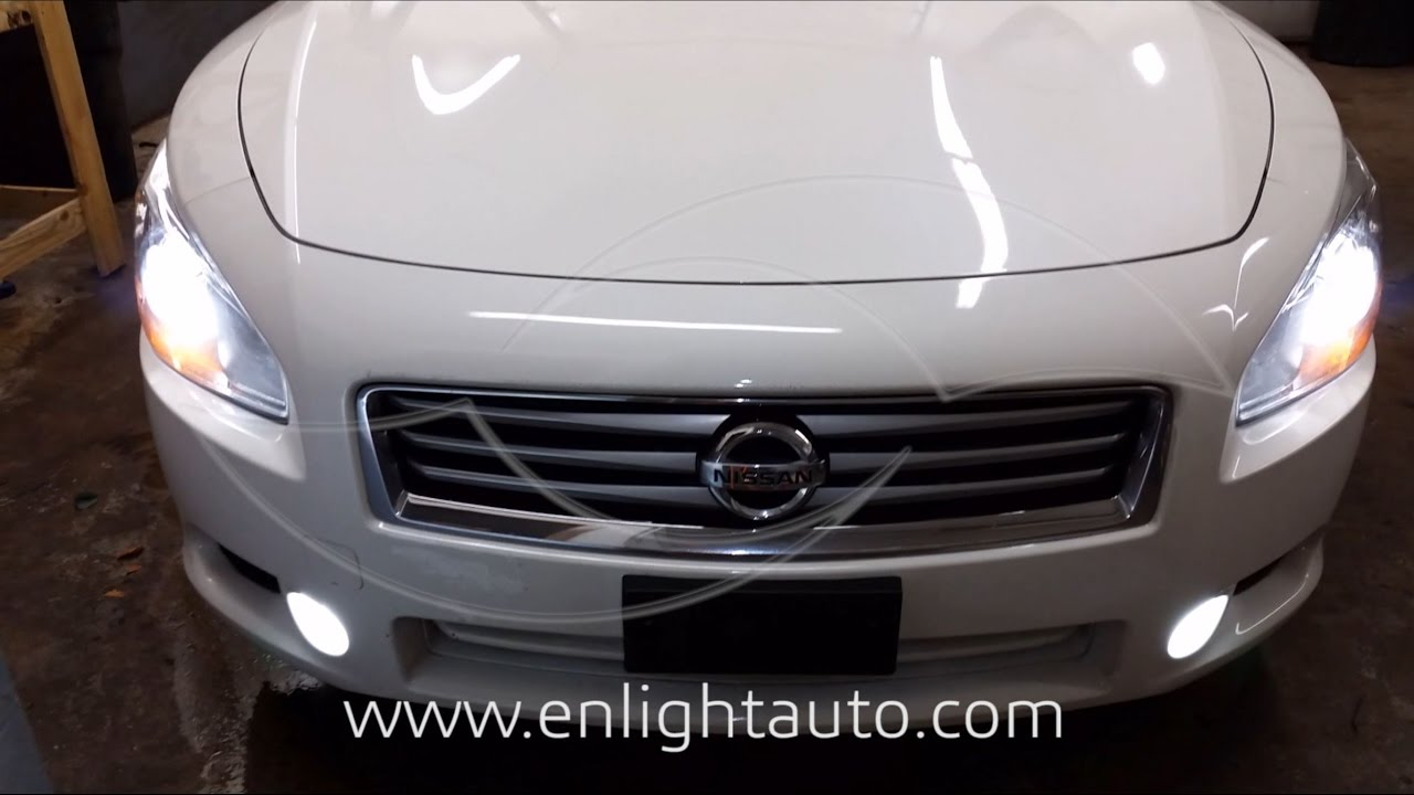 DIY: 2007-2014 Nissan Maxima LED Fog Light Installation - YouTube