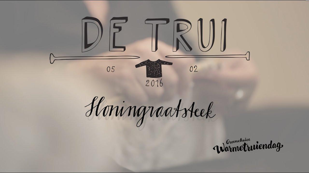 Instructiefilm 3 Honingraatsteek Brei De Trui Van 2016 Youtube