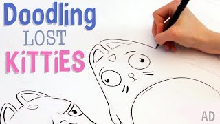 Doodling Lost Kitties