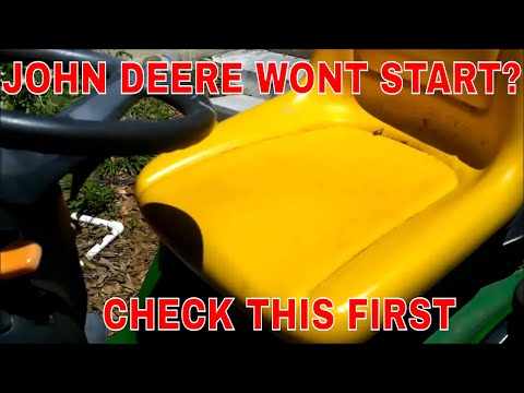 how to   john deere riding mower wont start