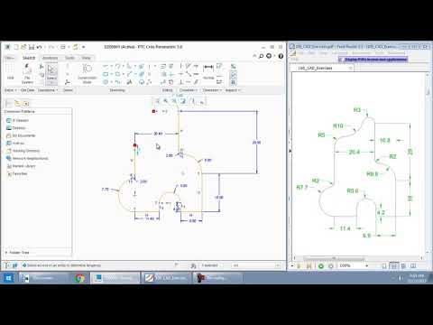 Drafting 2D diagram using Creo Parametric - Sketcher module