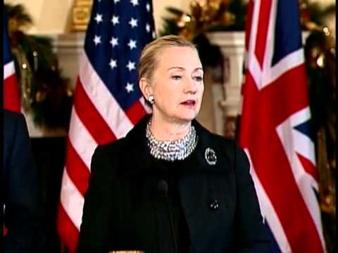 Secretary Clinton Delivers Remarks With U.K. Foreign Secreta