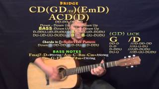 When I Was Your Man (Chris Jamison) Guitar Chord Chart Lesson Capo 3rd