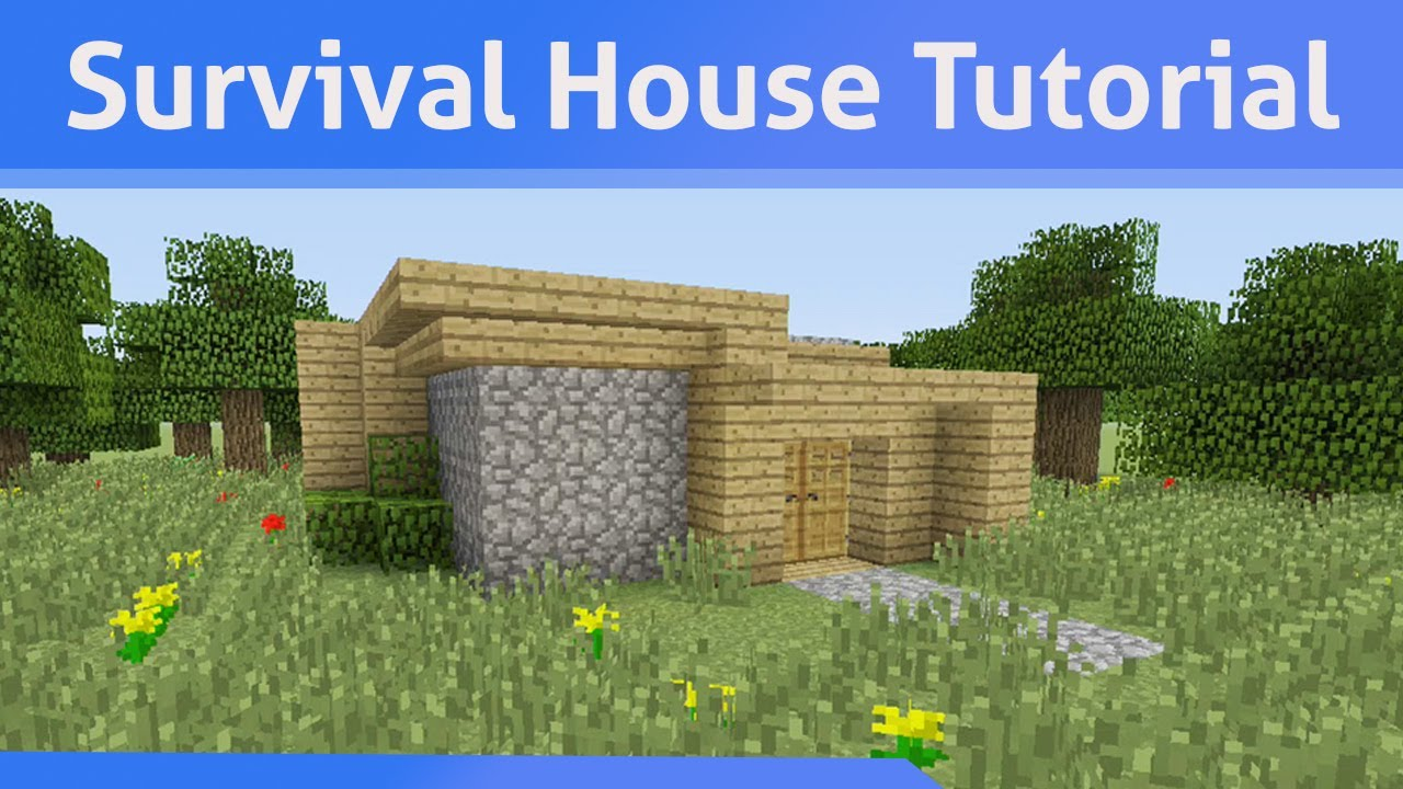 Small Survival House Tutorial Minecraft Xbox 360 PS3 One PS4 PE PC Wii U
