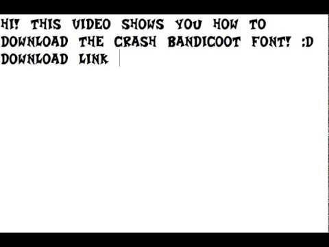 crash bandicoot font download youtube