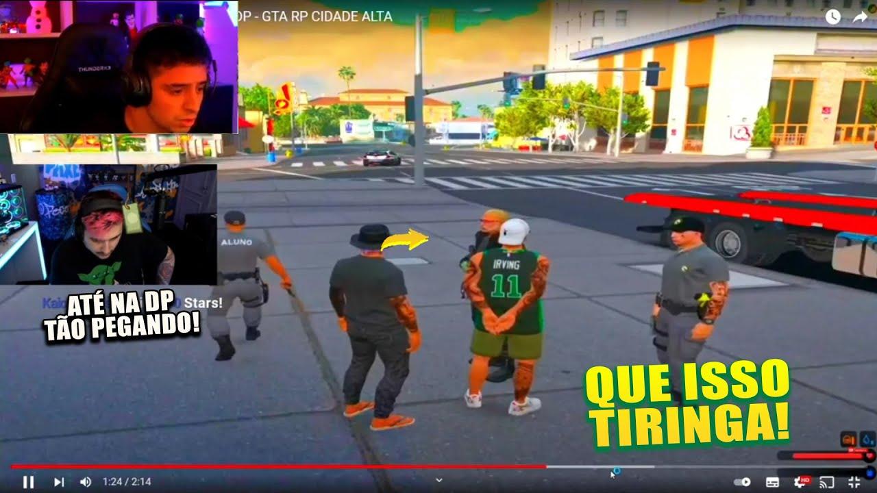 Download GABE REAGINDO AO CORINGA SENDO PRESO NA DP GTA RP QUE É ISSO TIRINGA KKK