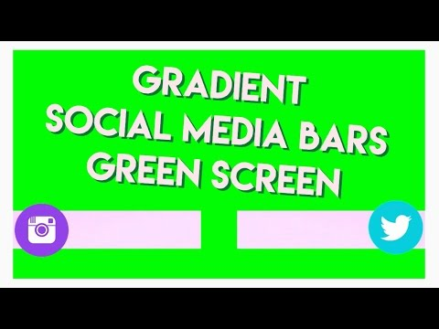 ANIMATED SOCIAL MEDIA BARS GREEN SCREEN (GRADIENT) | S SIDES
