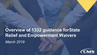 Webinar | Health Care Waivers: 1332-State Relief and Empowerment Waivers Webinar
