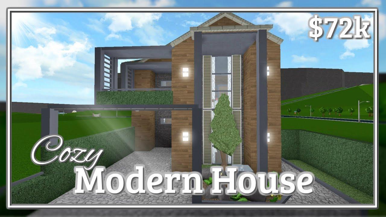Bloxburg Cozy Modern House Speed Build