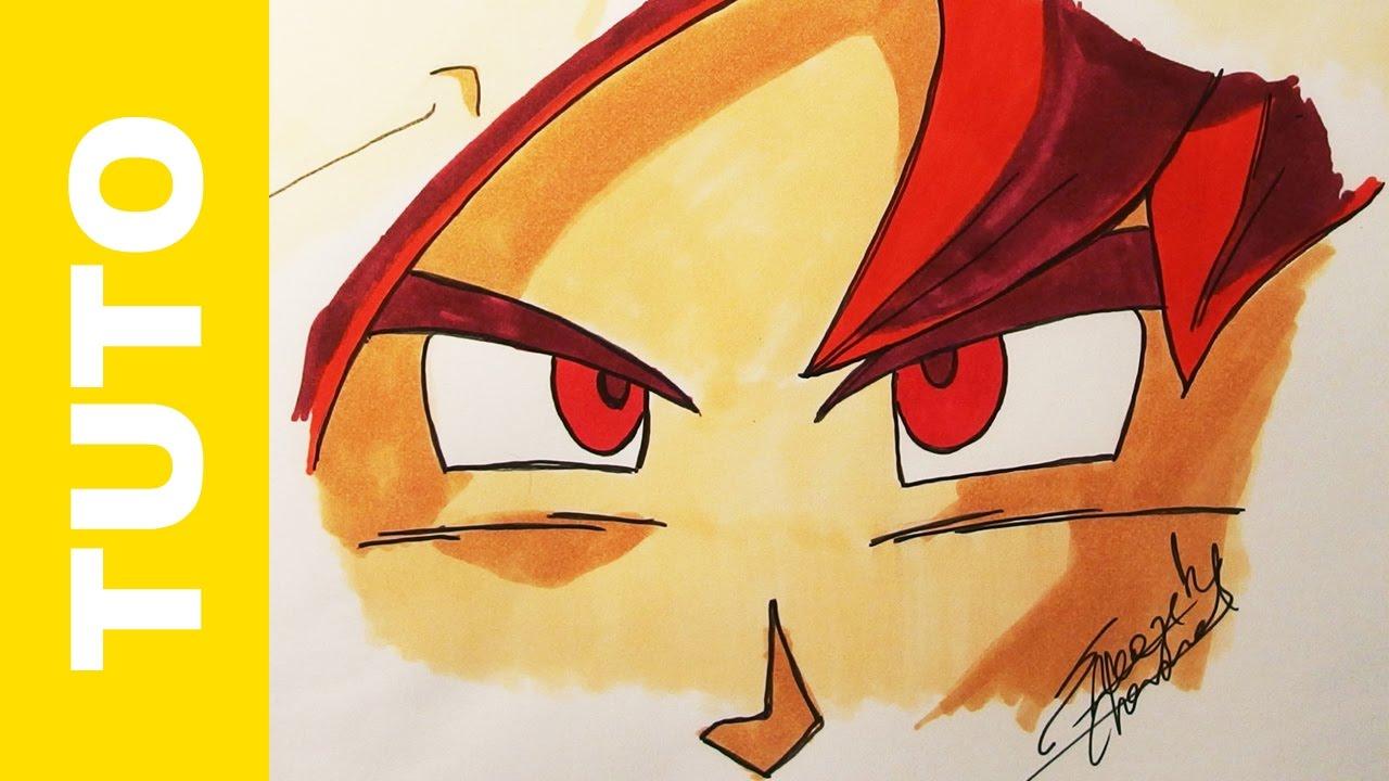 How To Draw Goku's Eyes Ssj God Tutorial Dragon Ball Super