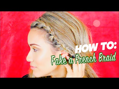 How to DIY Fake a French Braid