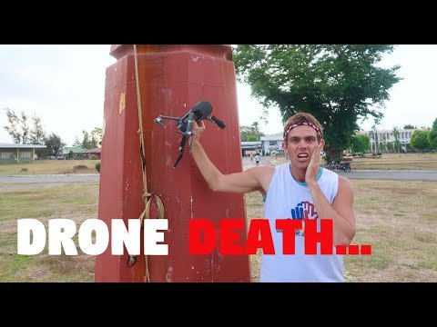 STUPID DRONE CRASH IN THE PHILIPPINES (Happiest Drone Death Ever?)