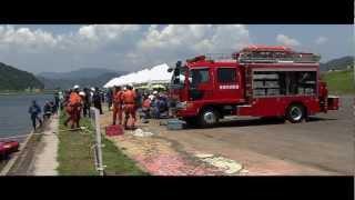 佐伯市水防訓練2012 水難救助訓練