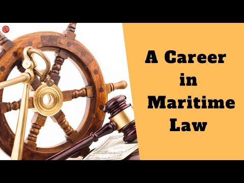 A Career In Maritime Law | Arnavi Panda | An Hour With LawSikho
