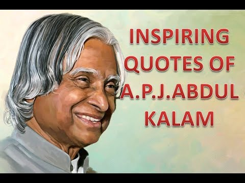 abdul kalam inspirational quotes in english - YouTube