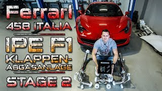 Ferrari 458 Italia    IPE F1 Exhaust - Formel 1 Klang + Tuning auf 6XX PS   SimonMotorSport   #415