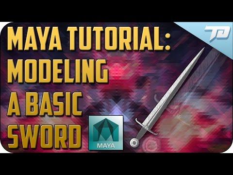How To Model A Basic Sword In Maya  Modeling Basics In Maya
