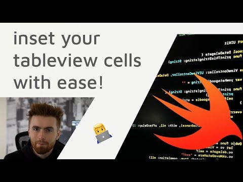 Swift & Xcode - How to INSET UITableViewCell Content View in table view and UITableView Controller thumbnail