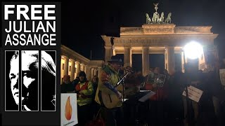 "Candles4Assange ""Assange muss frei"" 11.12. 2019 Berlin  #FreeAssange"