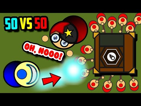 NEW GAMEMODE TROLLING!! Surviv.io Rushing The Enemy Crate! (50 Vs 50 Update Gameplay & Highlights)