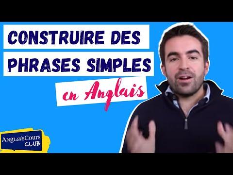 Cours d'anglais débutant : faire des phrases simples en anglais