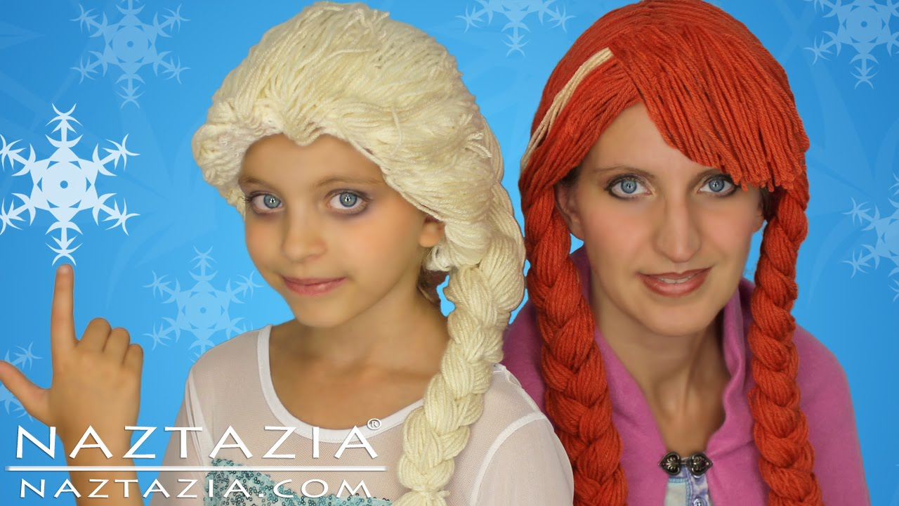 DIY Tutorial Yarn Wig Hair Disney Frozen Elsa Anna Braid Cosplay Wigs Children Kids Braids Costume - YouTube  sc 1 st  YouTube & DIY Tutorial Yarn Wig Hair Disney Frozen Elsa Anna Braid Cosplay ...