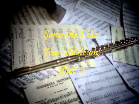 Someone Like You Adele on flute SHEET MUSIC IN THE DESCRIPTION