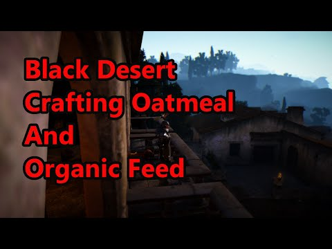 Black Desert Crafting Oatmeal And Organic Feed ( EU server )