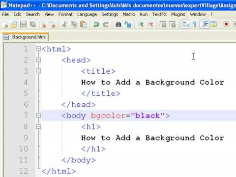 How to create web pages using html how to add a for Html code to change background color of page