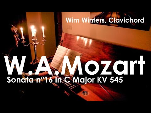 W.A.Mozart :: Sonata n°16 in C Major KV 545 :: Wim Winters, clavichord
