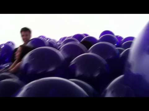 Rooms of balloons.