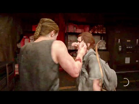 The Last of Us Part ll The Confrontation-Abby Fights Ellie Walkthrough