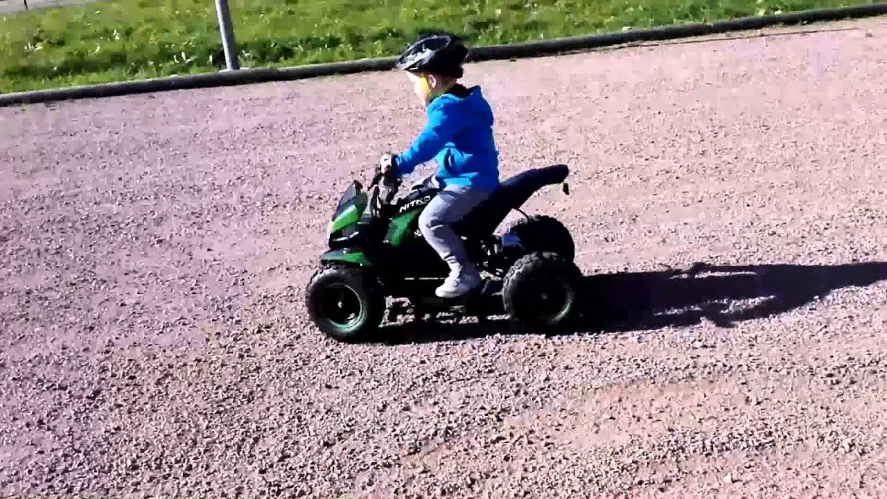 Goede Drift mit 800 Watt elektro Kinder Quad Nitro - YouTube XH-14