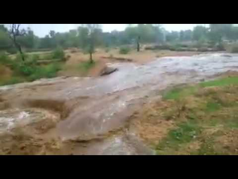 water flow with tremendous speed