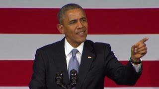Obama to heckler: You're screwing up my speech