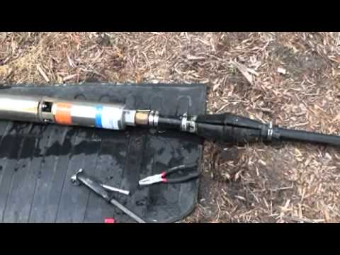 hqdefault submersible pump installation youtube 2 wire well pump wiring diagram at alyssarenee.co