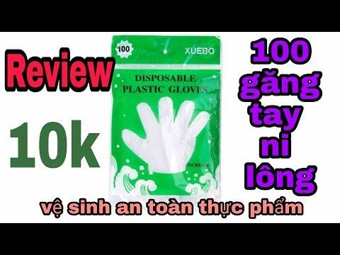100 Găng tay ni lông vệ sinh an toàn thực phẩm