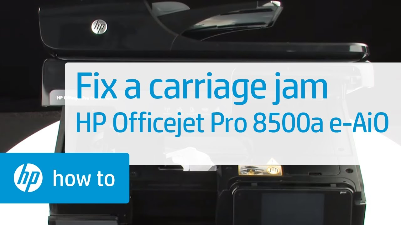 fixing a carriage jam hp officejet pro 8500a plus premium e all on HP Printer 8900A for fixing a carriage jam hp officejet pro 8500a plus premium e all in one printer (a910n) youtube at HP 8500A Premium