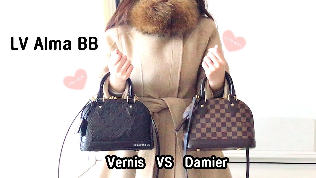 d650a1c8db52 Louis Vuitton Alma BB Vernis Amarante VS Damier Ebene - YouTube