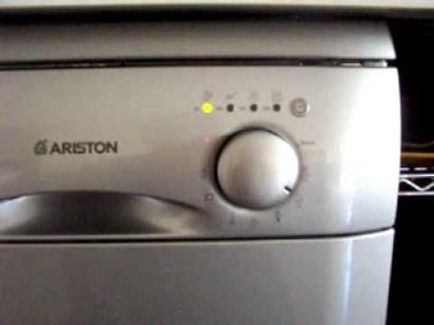 Avvio lavaggio ecologico lavastoviglie Ariston LS 248 TX  YouTube