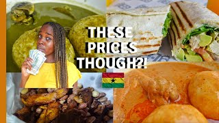 HOW MUCH DOES FOOD COST IN ACCRA RESTAURANTS - GHANA  COST OF LIVING IN GHANA  LIFE IN GHANA