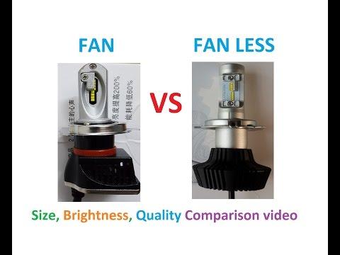 Philips H4 led with Fan vs Philips ZES H4 led fan less
