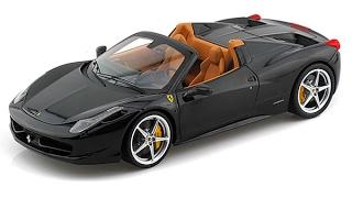 Review Ferrari 458 Spider Black 1:18 Hotwheels Elite
