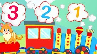 Colorful Game - Counting Lesson - Police Car and Construction Vehicles For Kids