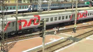 Последние поезда РЖД на вокзале Харькова 2014 г.